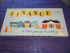 1958 Finance Board Game Parker Brothers Business Trading Game - All Wood Pieces