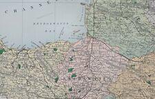 1889 COUNTY MAP SOMERSET BRIDGWATER FROME BATH WELLS TAUNTON ILMINSTER