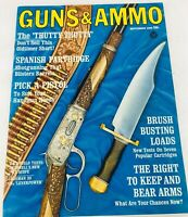 Vintage GUNS & AMMO Magazine September 1965 Brush Busting Loads