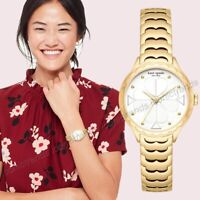 NWT in Box🌹 Kate Spade NY KSW1506 Rosebank Gold Tone Stainless 32mm Watch