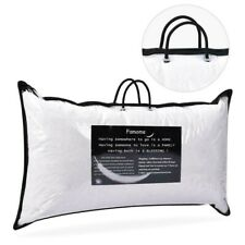 "2 x Down Bed Pillow Feather Goose Soft Pillows Cotton 18""X26"" Queen Size"