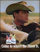 1971 Marlboro man cowboy smoker Marlboro cigarettes vintage photo print ad adl85