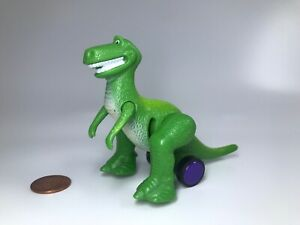 "Green Dinosaur Rex 3"" Burger King Action Figure on wheels Disney Toy Story"