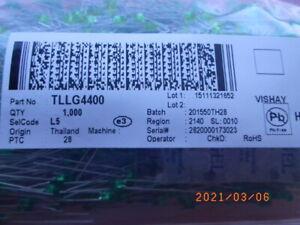 Posten Lot of 5000pcs TLLG4400 Green LED Diffused 3MM, Vishay