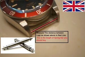 Watch Strap Spring Bars Pins Strong Stainless Steel Double Flanged Sizes 8-25 mm