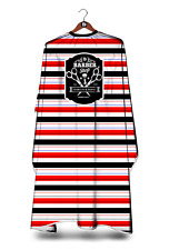 RED STRIPE BARBERS GOWN HAIR CUTTING HAIRDRESSING HAIRDRESSERS SALON CAPE XL