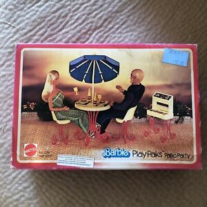 Barbie Vintage PLAYset Playpaks Patio Party New in Box 1978 Furniture Retro