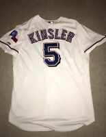Ian Kinsler Authentic Texas Rangers 2010-11 Era On-Field Majestic Jersey 48 XL