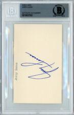 Jerry Lucas Autographed Signed 3x5 Index Card New York Knicks Beckett #10837552