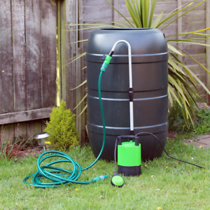 Submersible Water Butt Garden Pump 240v Mains Powered Outdoor Float Switch 10m
