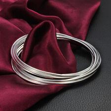 Circle Simple Bracelet 925 Sterling Silver Fashion Jewelry Women Wedding Gift