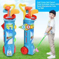 1 Set Kid Plastic Golf Training Set For Outdoor Sport Fitness Exercise Child Toy