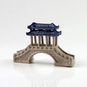 Bonsai-Figur Chinesische Pavillion-Brücke, Asia-Bonsai-Keramik Garten-Dekoration