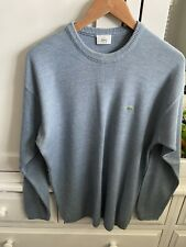 Mens Lacoste Blue / Grey Crew Neck Wool Mix Knitted Jumper - Size XL (6)