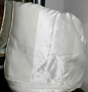 Stunning New HOTEL COLLECTION Frame WHITE Ivory KING DUVET Comforter Cover Nwop