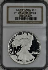 1987-S American Proof Silver Eagle Dollar $1 NGC PF 69 Ultra Cameo