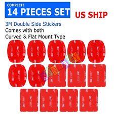 14 Pcs 3M VHB Sticker Set Flat & Curved Helmet Mount for Gopro Hero 6 5 4 3 2 1