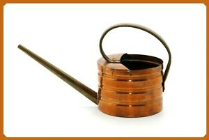 Vintage Chase 1930's Art Deco Brass & Copper Watering Can Ribbed