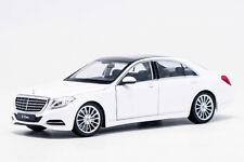 Welly 1:24 Mercedes Benz S-Class S500 White Diecast Model Car New in Box