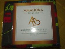 Amadora Double Brushed Ultra Microfiber Luxury Bed Sheet Set Queen, Transport