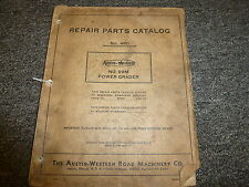 Austin Western Model 99M Power Grader Parts Catalog Manual Book S/N M2800-Up
