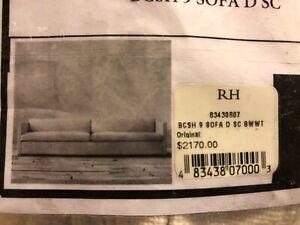 Restoration Hardware Cloud Sofa Cover BCSH 9 Retail $2170 Slipcover New! 9 feet