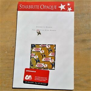 """Unisource Paper Company sample tablet Starbrite Opaque 2000 6"""" x 9"""""""