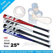 "blue-Brand New 25"" 63cm Aluminium Baseball Bat Racket Softball Outdoor Sports"