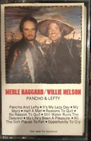 Merle Haggard / Willie Nelson - Pancho & Lefty - 1983 Country Cassette Tape Rare