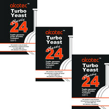 "3 ""Alcotec Classic 24h 14%"" Alkohol in 24 Std.; Turbohefe Gärhefe Brennhefe"
