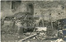 Original WW1 photograph postcard German soldiers  France WWI photo
