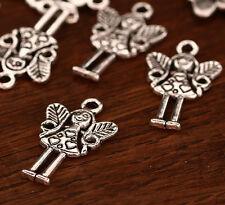 10x Tibetsilber Metall Perlen 15x25mm ms484