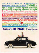 Vintage 1959 Magazine Ad Renault Dauphine Surprised At How Much Fun Is Waiting
