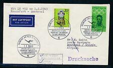62300) LH FF Frankfurt - Montreal Canada 1.1.69, Brief