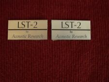 ACOUSTIC RESEARCH AR-LST-2 PAIR OF LOGO PLATES
