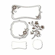 Sizzix Framelits Frames with Sprigs set #657775 Retail $24.99 5 DIES, 3 STAMPS!