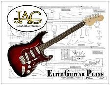 Luthiers Project Plan/Drawing for Fender standard Stratocaster  Ideal Gift P063