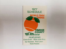 Orange County World Team Tennis 1977 Pocket Schedule - Bank of Newport (RK)