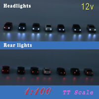 20pcs Head Lighted Model Car 1:87 Train Scenery  HO Scale EC100