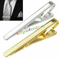 Neu Metall Krawattennadel Krawattenklammer Krawatte Tie Clip Silber Golden
