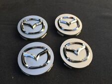 4pcs SILVER CENTER WHEEL COVER CAP CHROME EMBLEM for MAZDA G22C-37-190A