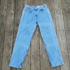Vintage 90s Levis 550 Relaxed Fit Jeans 31x30 Medium Light Wash High Waisted
