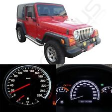 White LED Kit For Jeep Wrangler 97-06 Dash Instrument Cluster Speedometer Light