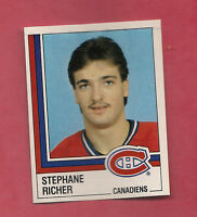 RARE 1987 CANADIENS  # 65 STEPHANE RICHER ROOKIE  STICKER CARD