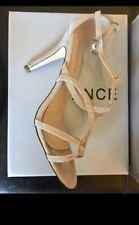 Avance, Cinders T-Bar Stone High heals, Gold Strap Shoes, Size 5, 38, Wedding