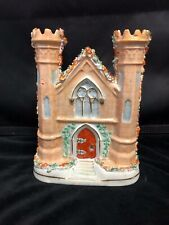 ENGLISH STAFFORDSHIRE POTTERY CASTLE