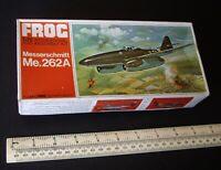 Luftwaffe Messerschmitt Me262A Jet Fighter 1:72 Frog Kit 1960s Vintage Red Box