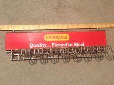 Vintage Corona Hardware Tools Metal Sign Tool Display Rack for Peg Board