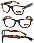 Progressive Reading Glasses 3 Power Strengths in 1 Reader Retro Square Frame
