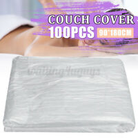 100Pcs Disposable Bed Couch Pad Cover Plastic Massage SPA Salon Table Sheet US